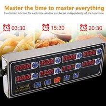 Calculagraph 8 канальный цифровой таймер кухня приготовления времени ЖК-дисплей часы встряхивание напоминание дропшиппинг
