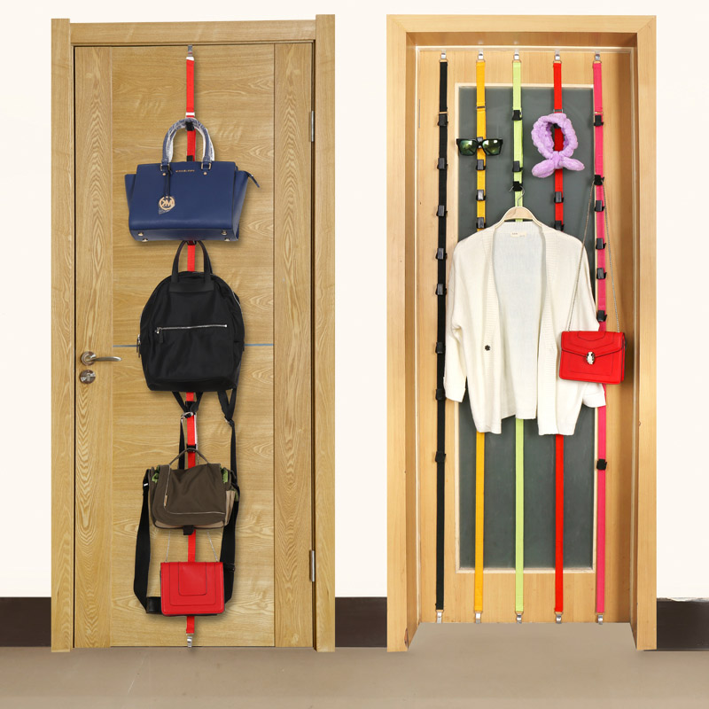 Newly New Rack Over Door Straps Hanger 8 Hooks Adjustable Hat Bag Clothes Coat Racks Organizer VA88