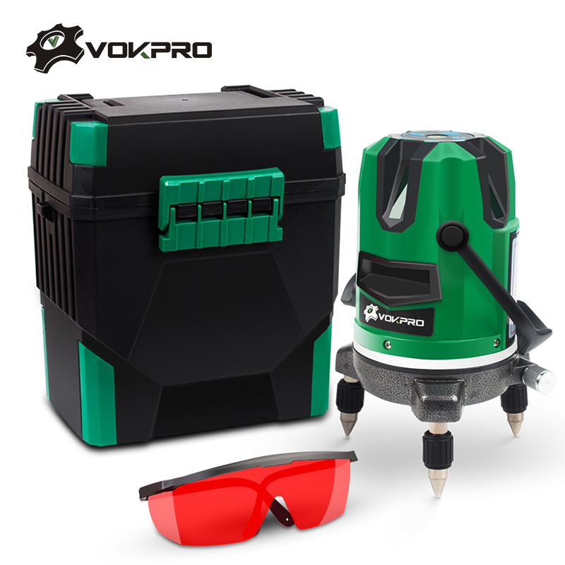 5 Lines 6 Points Red Line Laser Level 360 Rotary 635nm Auto Vertical Horizontal Cross Tilt