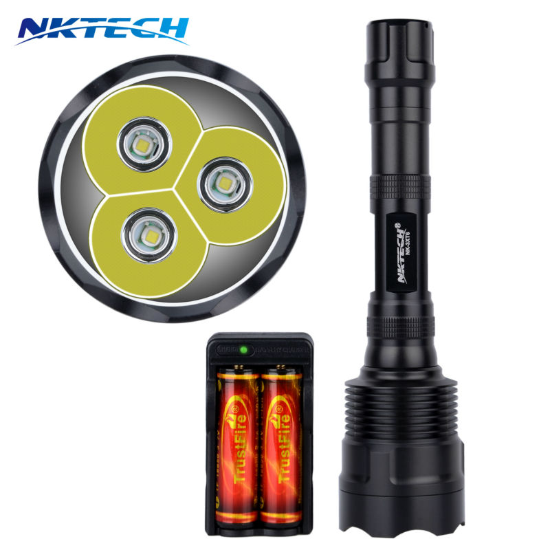 LED Flashlight High CREE XM-L 3T6 Power 3800 Lumen 5 Mode Torch Lamp Light Super Bright led light for Camping Hunting fishing compatible projector lamp dt00341 for cp x980 cp x985 mcx3200