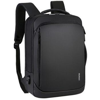 f22e9fab7761d 17 inç Laptop Sırt Çantası 15.6 Erkek Erkek Sırt Çantaları iş not defteri  Mochila Su Geçirmez Geri Paketi USB Şarj Çanta Seyahat Bagpack