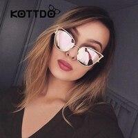 2017 Classic Cat Eye Metal Sunglasses Brand Designer Retro Vintage Glasses Sunglass Ladies Eyewear Eyeglass Women