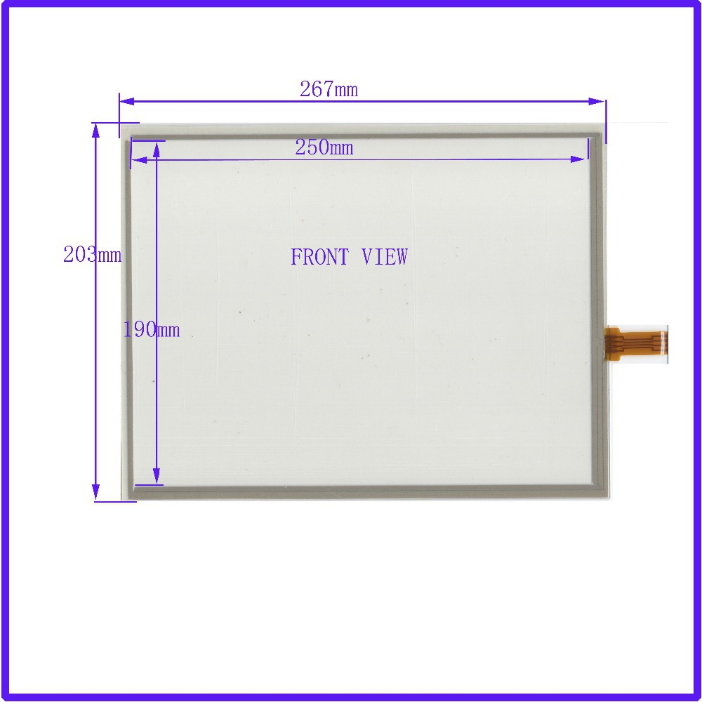 NEW 12.1Inch ELO Touch Screen 4 wire resistive USB touch panel overlay kit 267*203 Free Shipping