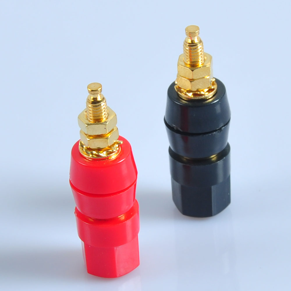 3pair Binding Post Speaker Cable Audio Amplifier Terminal Banana Plug Jack Gold in Electrical Plug from Consumer Electronics