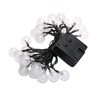 20 LED 4.8M Crystal Ball Solar Powered Outdoor Fairy String Lights for Garden Patio Fence Christmas Wedding Party(Warm White)