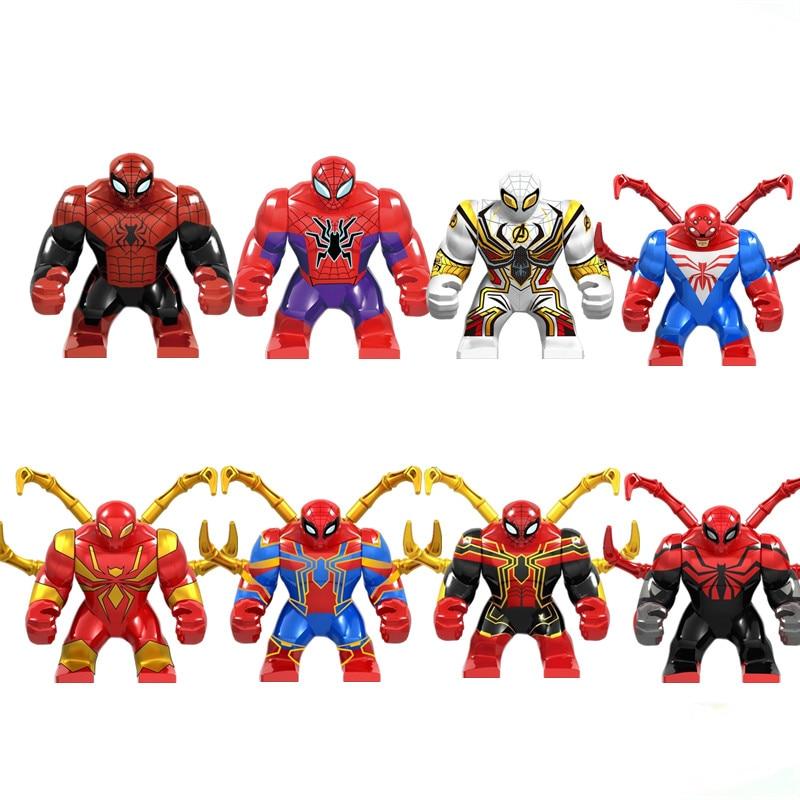 64 개/몫 슈퍼 영웅 avengers 팬더 로봇 미니 그림 헐크 버스터 세트 빌딩 블록 아이 장난감 교육 모델-에서블록부터 완구 & 취미 의  그룹 1
