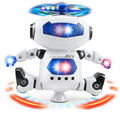 360 Rotating Space Dancing Robot Musical Walk Lighten Electronic Toy Robot Toy For Child