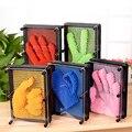 1 UNID De Plástico de juguete divertido juego de variedad de colores aguja Pinart pin forma de arte Shoumo 3D clon niño ponen cara de palma modelo