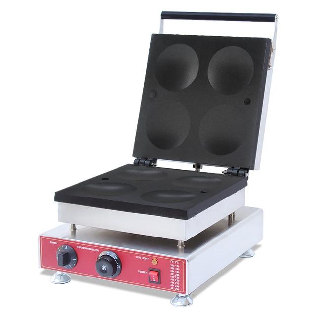 110V 220V Commercial Electric Dorayaki Maker Machine 4pcs Non-stick Round Waffle Maker Machine EU/AU/UK/US Plug Cake Iron Baking
