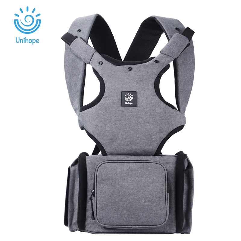 Unihope Ergonomic Baby Carriers Kangaroo Infant Storage bags Baby Hipseat Sling Front Facing Baby Wrap Carrier for Baby Travel breathable baby carrier backpack portable infant newborn carrier kangaroo hipseat heaps sling carrier wrap