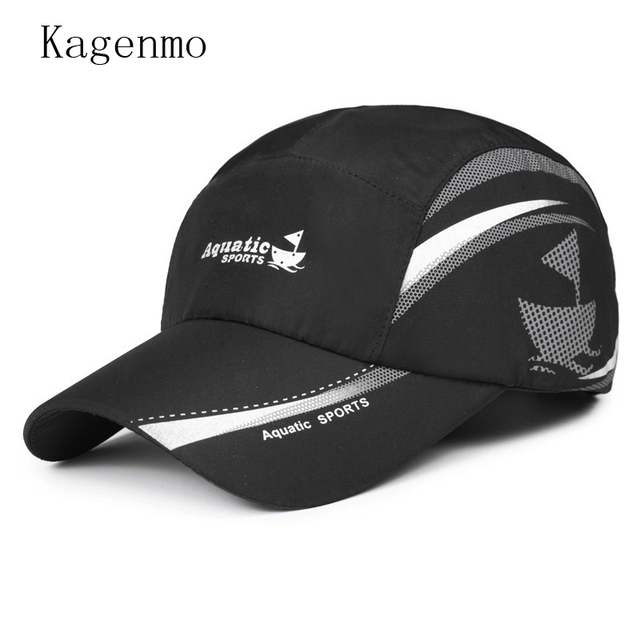 acb053a36b8 Kagenmo Spring quick dry unisex hat thin cotton breathable mesh cap fashion  male female baseball caps thin sun hat visor summer