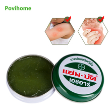 1pcs Thailand Herbal Cream Refresh Oil Dizziness Headache Jiont Pain Relief Mosquito itching Green Ointment Skin Care P0009