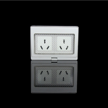 IP55 CE Wall Waterproof Dust-proof Power Socket, 250V16A AU / New Zealand Standard Double Electrical Outdoor Outlet Grounded