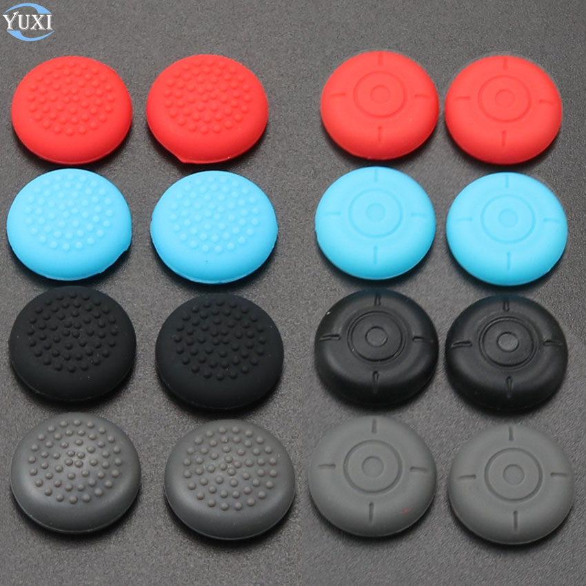 YuXi 2pcs Silicone Grip Caps Joy Con Analog Joystick Cover Case For Nintend Switch NS Controller Joy-Con Repair Part