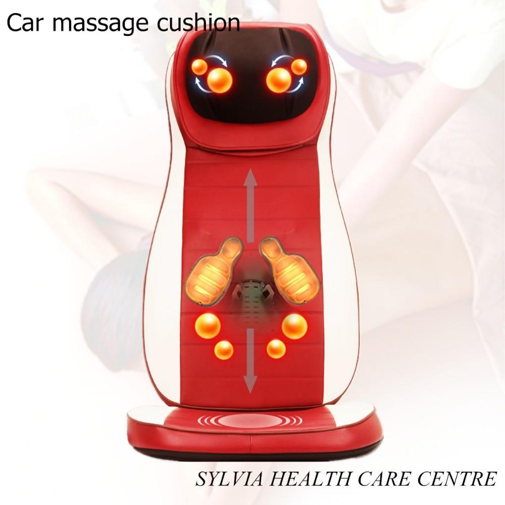 2017 NEW products Vibration buttock cushion Kneading massage pillow Shiatsu car massage chair cover 110-240V 2017 newest back and neck shiatsu massage chair cushion kneading back and buttock massage cushion