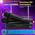 Professional Wireless Microphone System WR-206 Dual Handheld Mic With Receiver For Karaoke Music Instrument DJ Microfone Sem Fio
