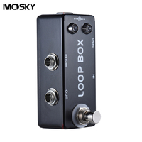 MOSKY Mini Loop Box Guitar Effect Pedal True Bypass IN OUT SEND And RETURN Jacks High
