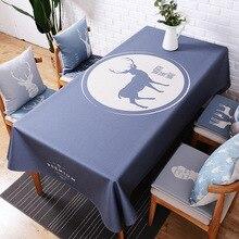 Cotton linen tablecloth, European rectangular anti-scalding waterproof living room table cloth