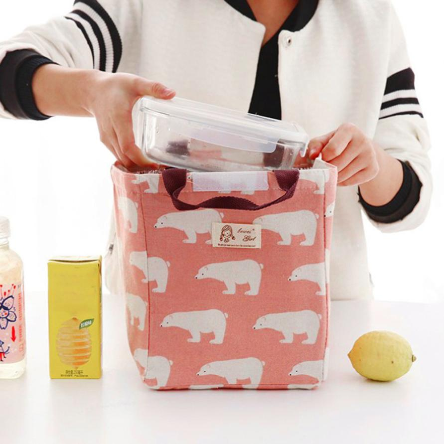 2018 new Lunch bag storage home office storage Thermal Insulated Lunch Box Tote Cooler Bag Bento Pouch Lunch Container BAGS