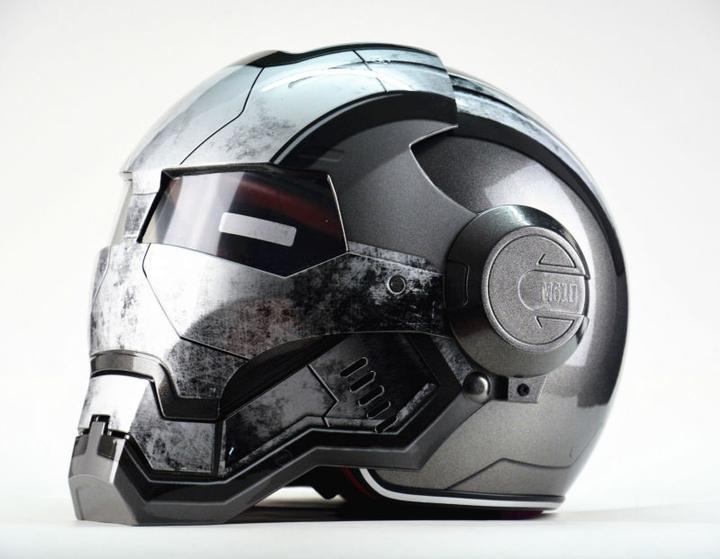 Moto Biker Full Face Helmet Iron Man Personality Special Fashion Half Open Face Motocross Helmets