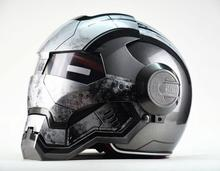 Moto biker Full Face Helmet Iron Man personality special fashion half open face motocross helmets masei 610 top abs moto biker helmet ktm iron man personality special fashion half open face motocross helmet matt black