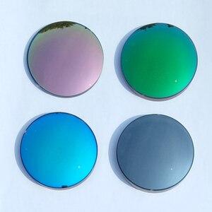 Image 1 - 1.56 יוניסקס נשים גברים מקוטב מראה צבעוני קוצר ראיה פרסביופיה אסטיגמציה משקפי שמש עדשות 0 כדי 6.0 אישית דיופטריות עדשה