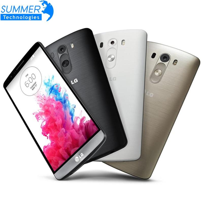 "Original Used LG G3 LTE 3GB RAM 32GB/16GB ROM GSM Single sim Quad-core 5.5"" 13MP Unlocked D850 D855 Mobile Phone"