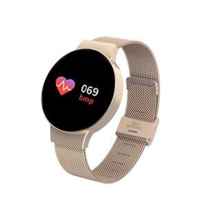 Image 2 - Dropshipping tanie BluetoothSmart zegarek dla androida/IOS iphone wodoodporny ekran dotykowy sport zdrowie inteligentny zegarek damski