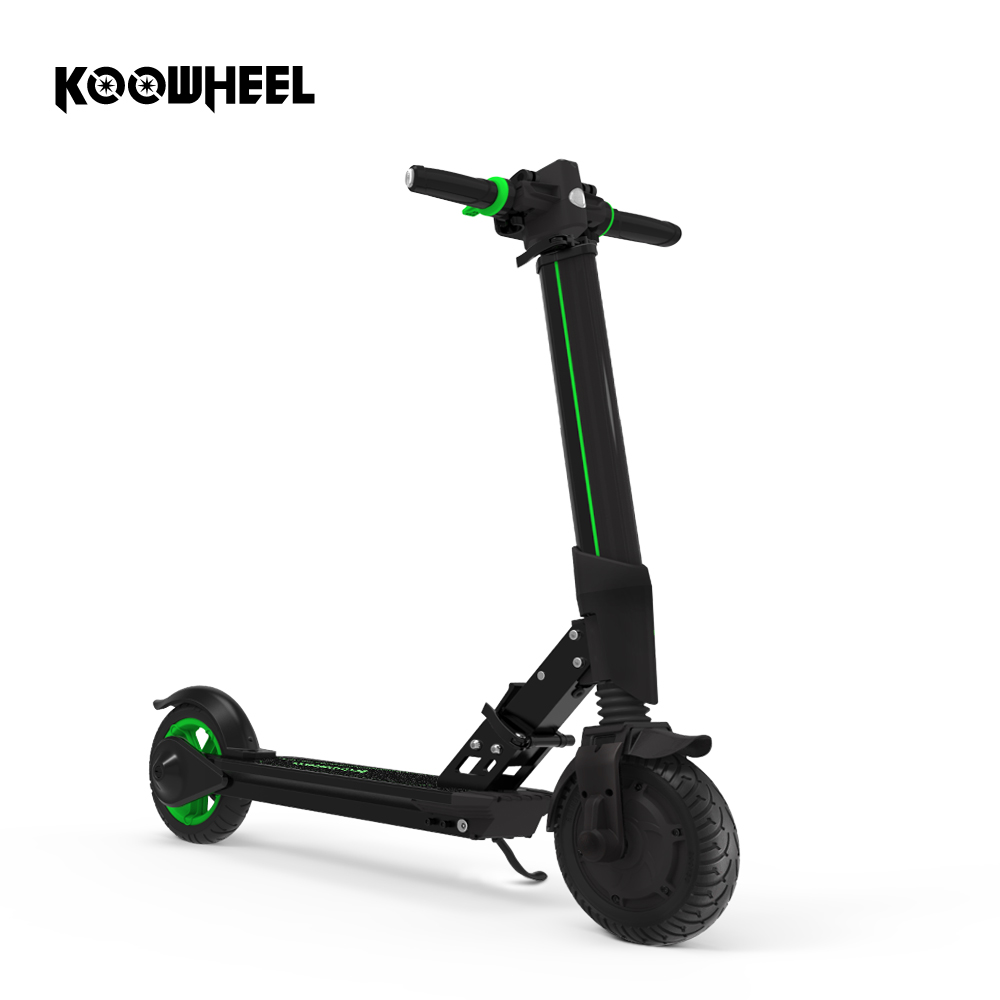 Koowheel Upgrade Foldable Electric Scooter Lithium Battery Kick Scooter 8 inch Solid Tire Electric Skateboard for Kid Adult E1 2 wheels kick scooter 350w lithium battery electric scooter with seat max load 150kg for adults free shipping