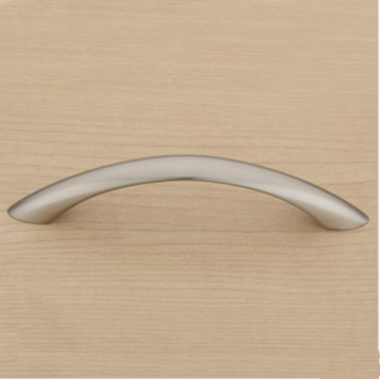 Satin Nickel Modern Simple Kitchen Cabinet Drawer Pull
