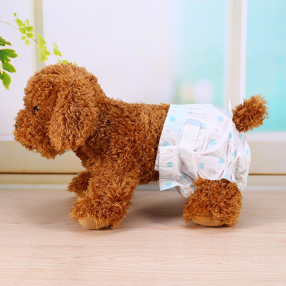 10Pc/Bag Disposable Pet Dog Diapers Female Dog Physiological Pants Dry and Breathable Nappy Puppy Dot Shorts Sanitary Underwear