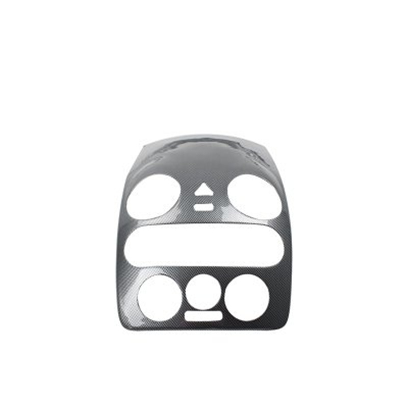 1 pc autocollants De Voiture en fiber de carbone ABS matériel Central console panneau décoration couverture pour 2003-2012 Volkswagen VW Beetle
