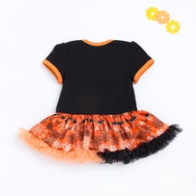 Baby girl halloween pumpkin tutu dress