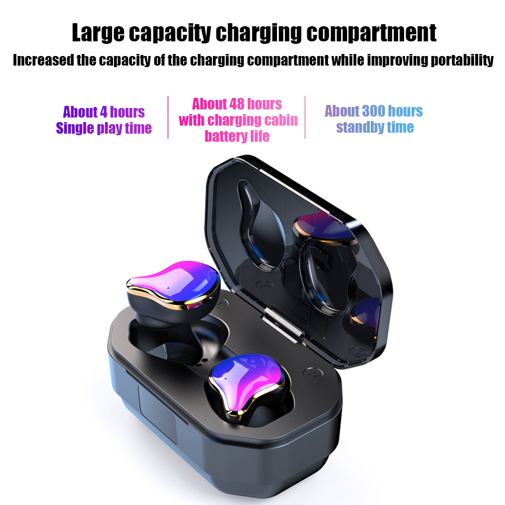 <font><b>TWS</b></font> Wireless Bluetooth 5.0 earphones Earbuds Touch Control HIFI <font><b>6D</b></font> Stereo Sound With Charging Case image