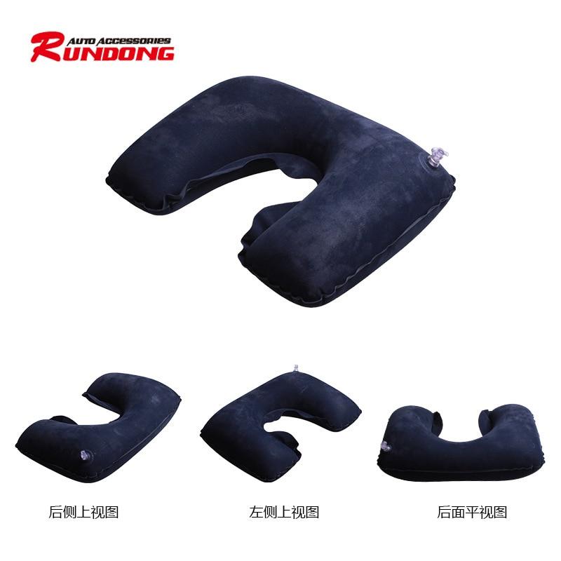 Large Aviation U - Neck Pillow Travel Headrest Inflatable Neck Outdoor Neck Pillow R-6401