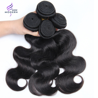 Modern Show Hair Malaysian Body Wave Hair Bundles Deal 100% Human Hair Extension 3 and 4 Bundles Available NonRemy Free Shipping