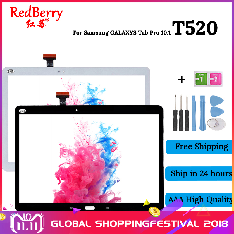 New 10.1 inch T520 LCD Display Touch Screen Digitizer For Samsung Galaxy Tab Pro 10.1 T520 T525 SM-T520 SM-T525 sm t525 case luxury crazy horse pattern pu leather stand cover case for samsung galaxy tab pro 10 1 t520 t521 t525 tablet pc