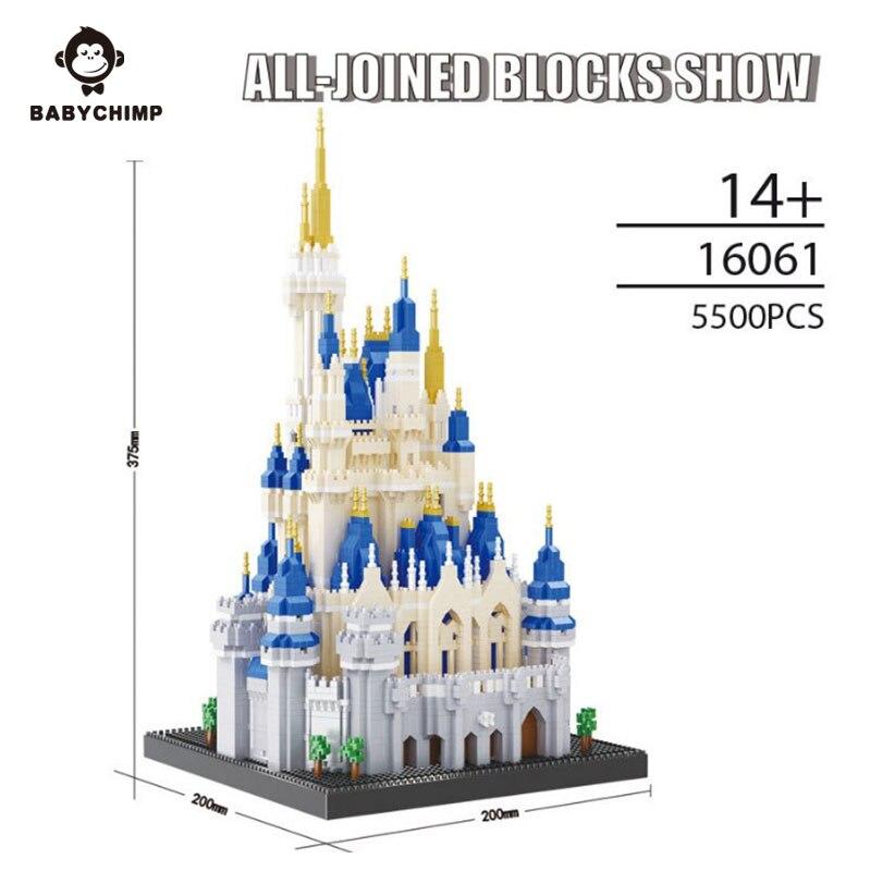 5500 pièces éclairer les blocs de construction ensembles Royal grand château assemblée Architecture modèle jouets éducatifs pour enfants cadeau-in Blocs from Jeux et loisirs    1