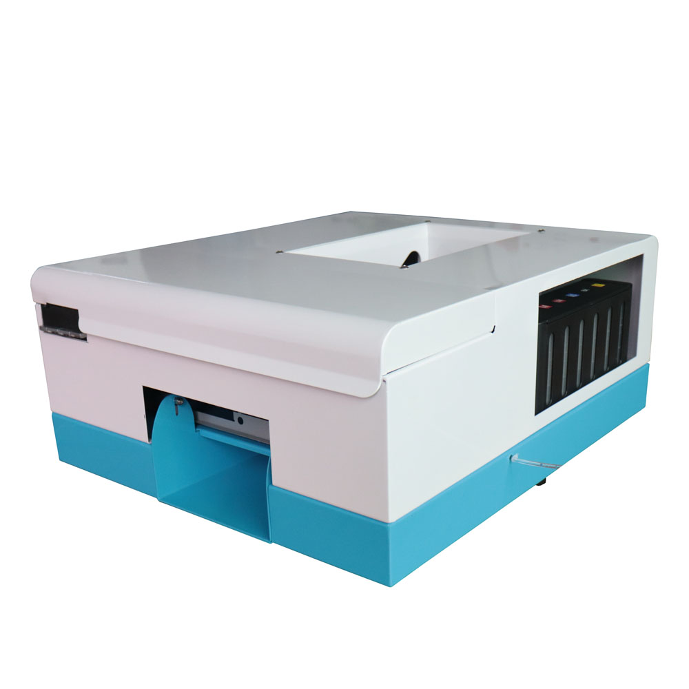 NEW generation PVC card printing machine Inkjet Card printer Newest CD Printer DVD Disc Printer with 10 pcs pvc card for gift inkjet id card printting machine automatic inkjet cd printer with 52 trays for id cards and cd