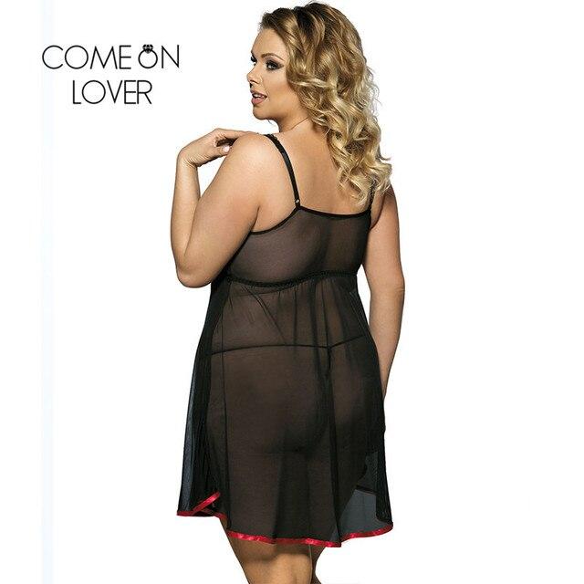 Comeonlover Sexy Lingerie Nightwear Underwear Fantasia Sexy Dress Erotic Babydoll Lingerie Sexy Plus Size Porno Lingerie RI7922 2