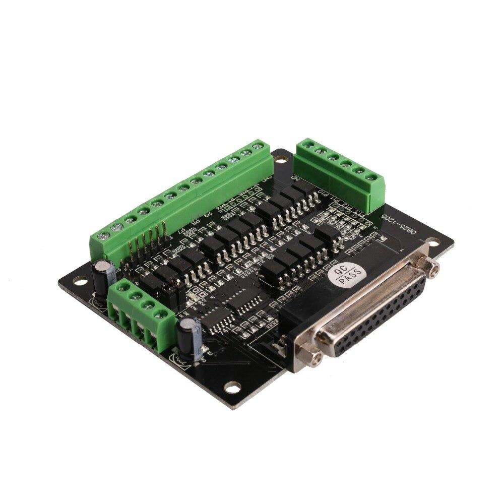 Шаговый двигатель Breakout Board 6 осевой интерфейс(Breakout Board DB25) адаптер фрезерный гравер лазерный принтер