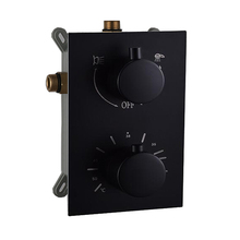 Solid Brass Valve Concealed Thermostat Trim With Two or Three Function Control Matt Black Thermostatic Shower Faucet