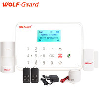 WOLF Guard Android IOS App Remote Control 433mhz Wireless Smart Burglar GSM Alarm Security System With