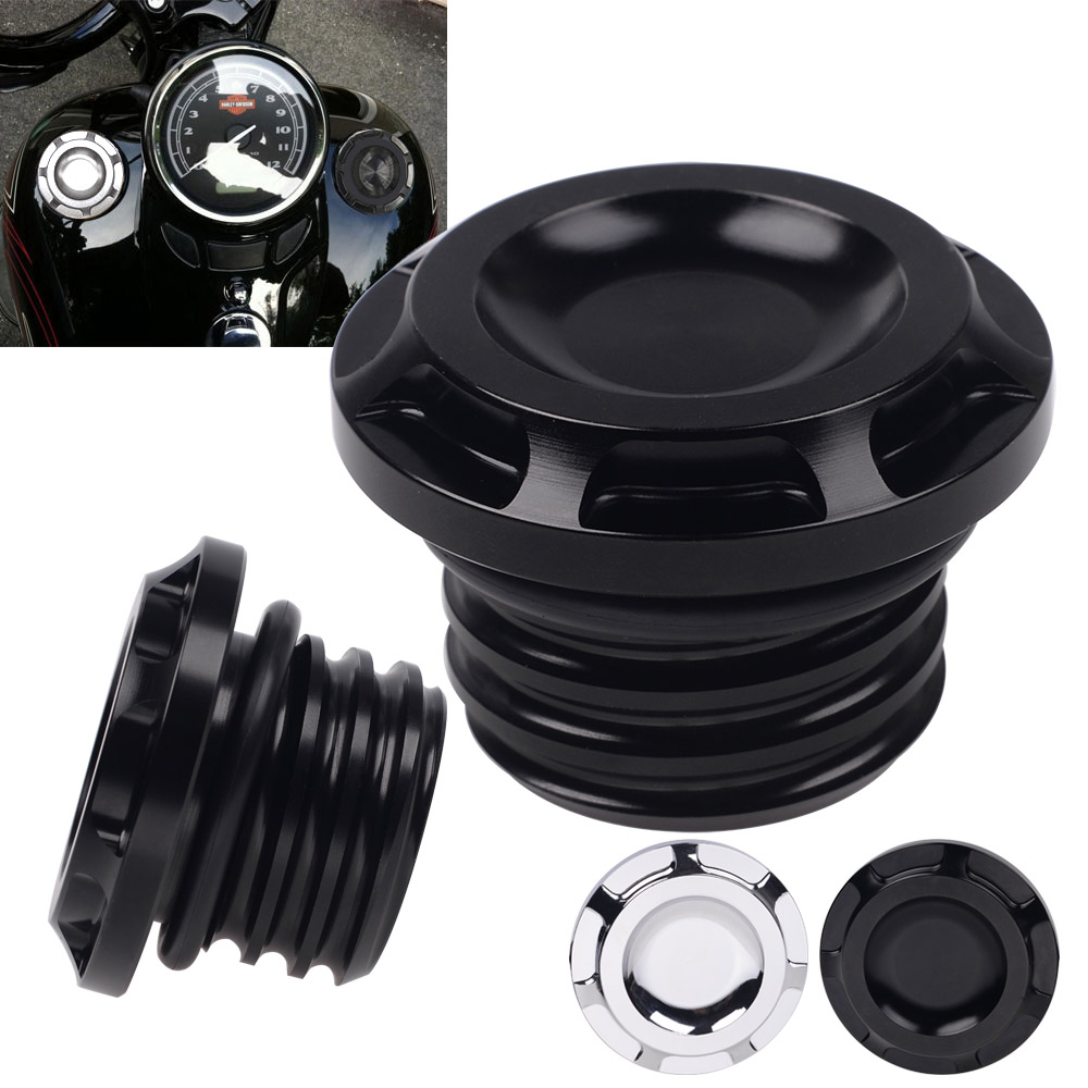 New Billet Aluminum Motorcycle Fuel Gas Oil Tank Cap Cover Guard Black Gold Silver For Harley Sportster XL 883 1200 1996-2017