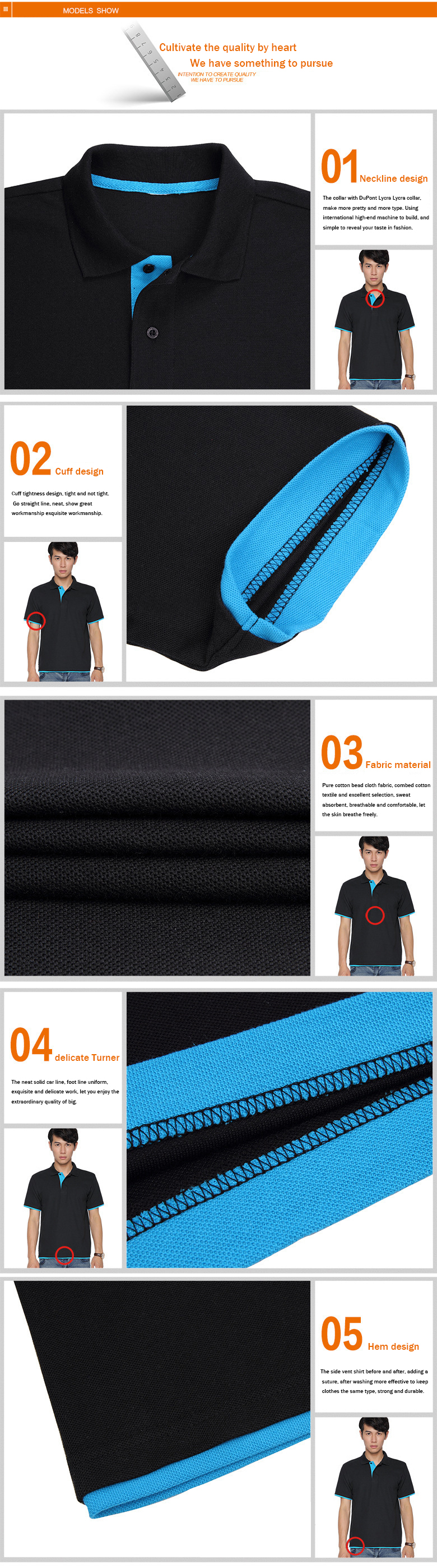 URSPORTTECH Men's Polo Shirt For Men Desiger Polos Men Cotton Short Sleeve shirt Clothes jerseys golftennis Plus Size XS- XXXL 21