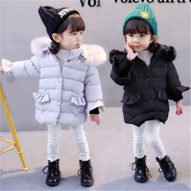 16de2415c997 2018 Children Coat Baby Girls winter Coats long sleeve coat girl s warm  Baby jacket Winter Outerwear cartoon fleece coats AA2850