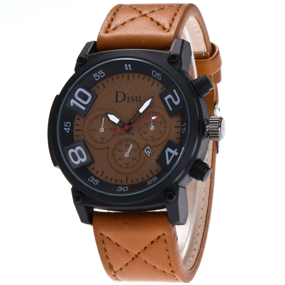Fashion Brand Men's Sport Watches Casual Men Leather Army Quartz Wrist Watch Male Military Clock reloj de los hombres fashion top gift item wood watches men s analog simple hand made wrist watch male sports quartz watch reloj de madera