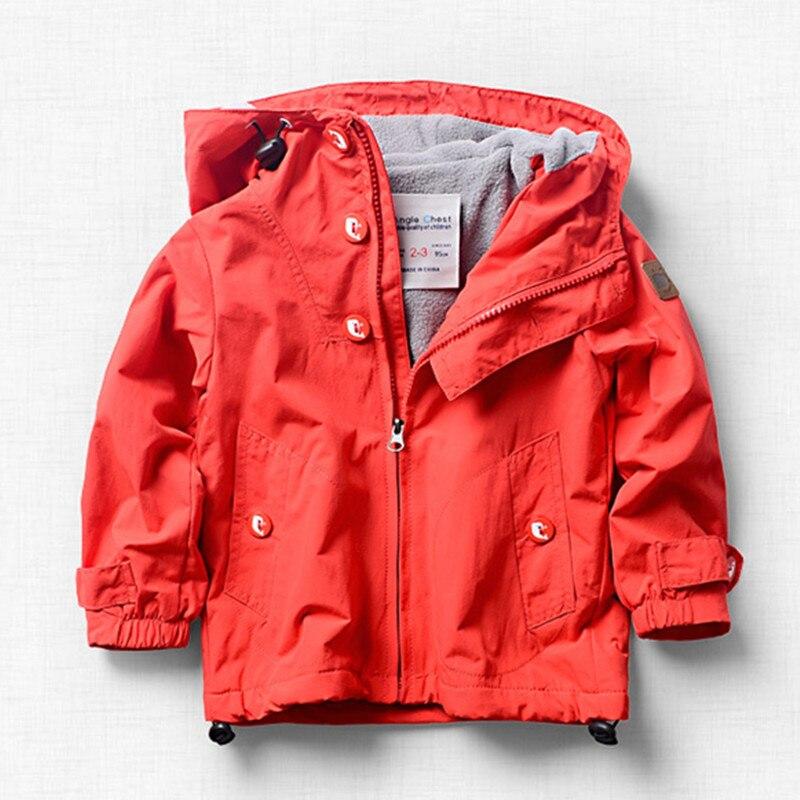 Nouveau printemps automne enfants enfants veste outwear bébé garçons filles coupe-vent double-pont polaire veste grandes filles garçons vêtements