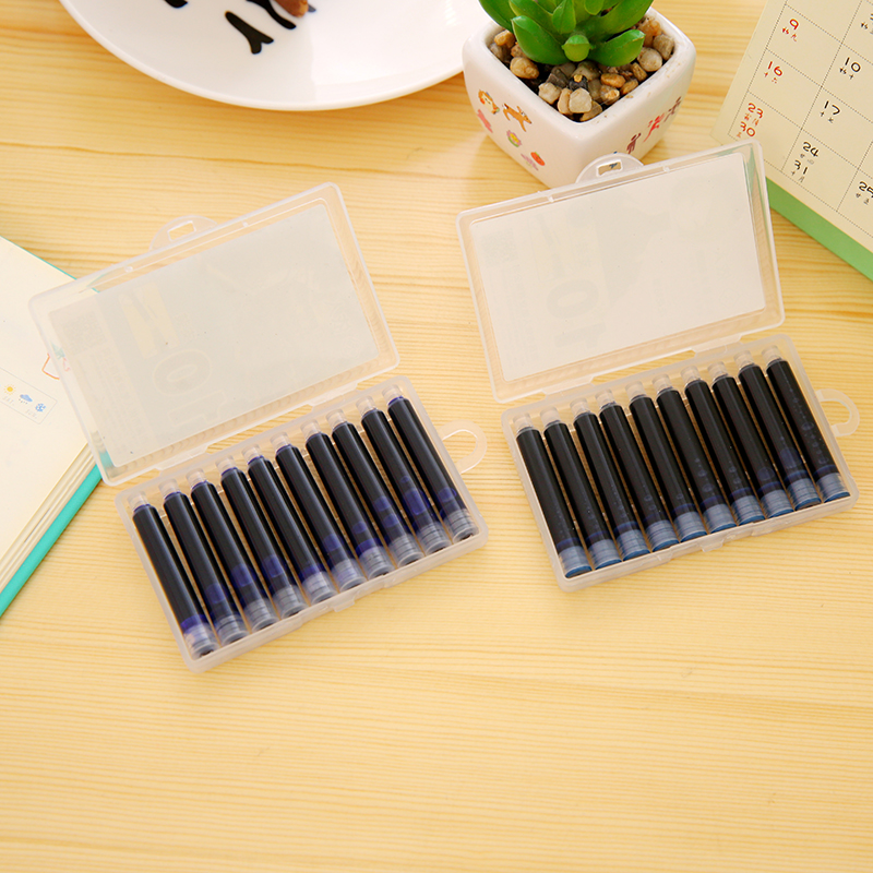 10pcs COLOR Blue Or Black Or Red Or Green 3.4mm Fountain Pen Ink Cartridges