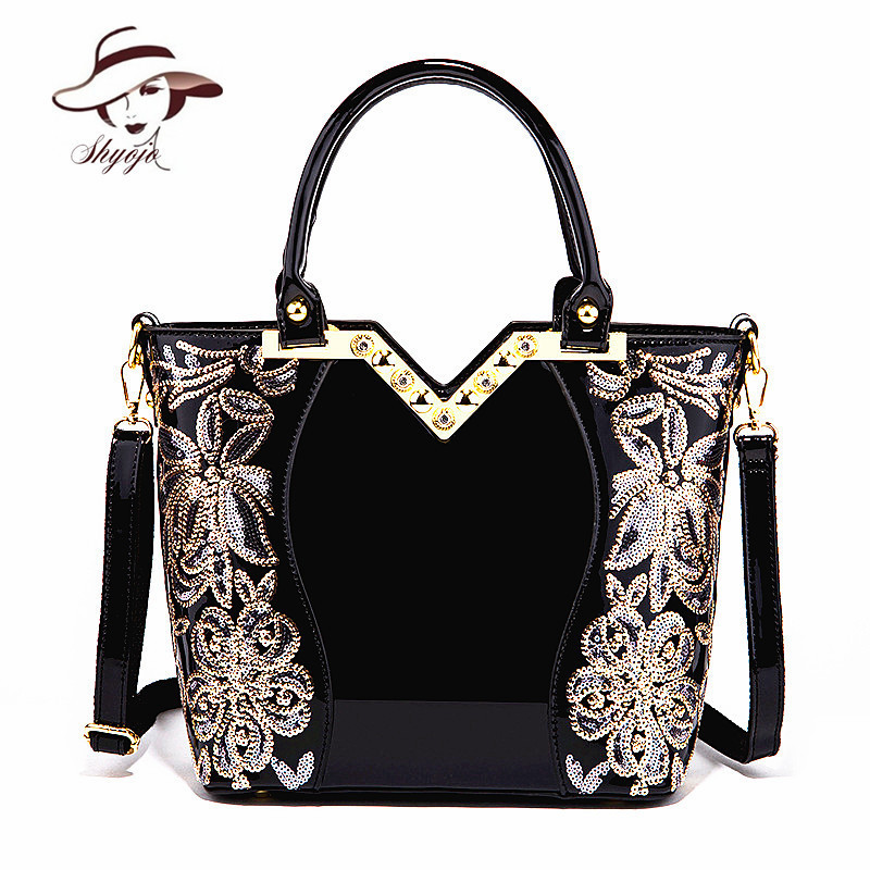New Black Simple Luxury Women Party Evening Leather Handbag Popular High Quality Girl Messenger Bag Classic Flower Shoulder ToteNew Black Simple Luxury Women Party Evening Leather Handbag Popular High Quality Girl Messenger Bag Classic Flower Shoulder Tote